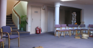 Open plan waiting room